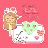 Valentinkortdesign Royaltyfri Bild