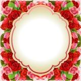 Valentinkortet steg Royaltyfri Bild