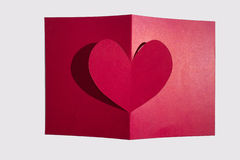 Valentinkortidéer Arkivfoton