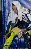 Valentino 2009 Rossi della squadra di Fiat Yamaha Fotografia Stock Libera da Diritti