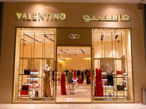 Valentino Fashion Boutique. Dubai - 6 SEPTEMBER 2010: Fashion Brand Valentino Boutique in Dubai Mall on 06.09.2010 Royalty Free Stock Photos