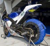 Valentino italiano Rossi da equipe de Fiat Yamaha Imagem de Stock Royalty Free