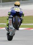 Valentino italiano Rossi da equipe de Fiat Yamaha Imagens de Stock