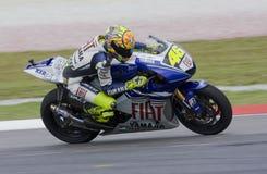 Valentino italiano Rossi da equipe de Fiat Yamaha Fotografia de Stock Royalty Free