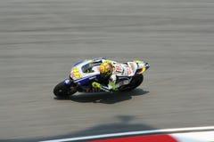 Valentino italiano Rossi della squadra di Fiat Yamaha Fotografie Stock