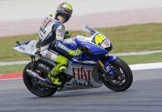 Valentino italiano Rossi della squadra di Fiat Yamaha Fotografia Stock Libera da Diritti