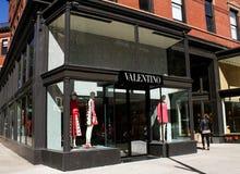 Valentino, Newbury Street, Boston, MA. Stock Photography