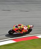 Valentino Rossi. SEPANG, MALAYSIA - OCTOBER 21: Italy MotoGP rider Valentino Rossi of Ducati Team during a free practice session on October 21, 2011 at Sepang Stock Photo