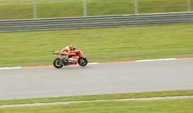 Valentino Rossi in action at Sepang, Malaysia Stock Photo