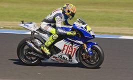 Valentino Rossi beim MotoGP 2008 Lizenzfreies Stockbild