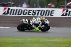 Valentino Rossi British MotoGP Donington 2009. Valentino Rossi at Coppice Corner, Donington 2009 stock photography