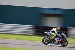 Valentino Rossi British MotoGP Donington 2009. Valentino Rossi at Coppice Corner, Donington 2009 Royalty Free Stock Images