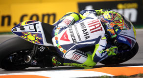 Valentino Rossi at Brno Circuit Stock Photography
