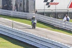 Valentino Rossi da competência da equipe da fábrica de Yamaha Imagem de Stock