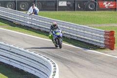 Valentino Rossi da competência da equipe da fábrica de Yamaha Imagens de Stock