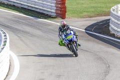 Valentino Rossi da competência da equipe da fábrica de Yamaha Fotos de Stock