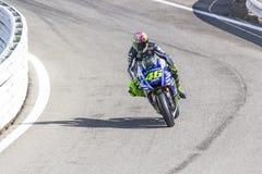 Valentino Rossi da competência da equipe da fábrica de Yamaha Foto de Stock Royalty Free