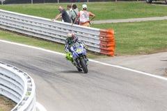 Valentino Rossi da competência da equipe da fábrica de Yamaha Imagem de Stock Royalty Free