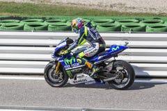 Valentino Rossi da competência da equipe da fábrica de Yamaha Fotografia de Stock Royalty Free