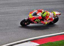 Valentino Rossi da equipe MotoGP de Ducati Fotografia de Stock Royalty Free