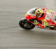 Valentino Rossi dans l'action chez Sepang, Malaisie Photos libres de droits