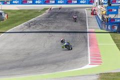 Valentino Rossi de competir con del equipo de la fábrica de Yamaha Fotografía de archivo