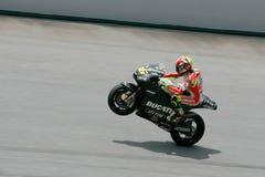 Valentino Rossi della squadra di Repsol Honda Fotografia Stock Libera da Diritti