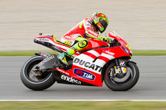Valentino Rossi (Ducati) Royalty Free Stock Photography