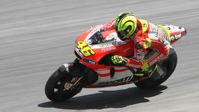 Valentino Rossi of Ducati Marlboro Team Royalty Free Stock Photos