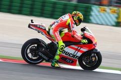 Valentino Rossi DUCATI MOTOGP photo stock