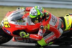 Valentino Rossi DUCATI MOTOGP photos libres de droits