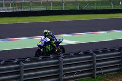 Valentino Rossi, leaving the pits. stock image