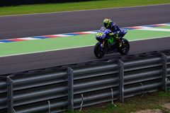 Valentino Rossi, leaving the pits. stock photos