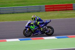 Valentino Rossi, leaving the pits. royalty free stock images