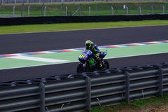 Valentino Rossi, leaving the pits. royalty free stock photography