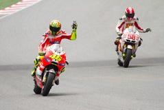 Valentino Rossi and Marco Simoncelli Stock Photo