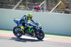 Valentino Rossi at 2016 Monster Energy MotoGP of Catalunya at Barcelona circuit on June 3, 2016 royalty free stock photos
