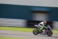Valentino Rossi MotoGP britannique Donington 2009 Images libres de droits