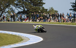 Valentino Rossi at the MotoGP race stock photography