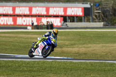 Valentino Rossi at the MotoGP race Royalty Free Stock Image