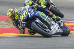 Valentino ROSSI. Movistar Yamaha MotoGP. Stock Photography