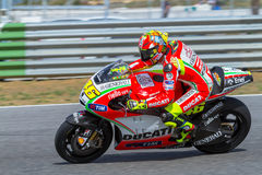 Valentino Rossi pilot of MotoGP Royalty Free Stock Image