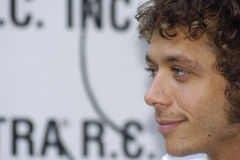 Valentino rossi profile Royalty Free Stock Photo