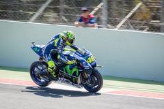 Valentino Rossi przy 2016 potworem Energetyczny Catalunya przy Barcelona obwodem na Czerwu 3 MotoGP, 2016 zdjęcia royalty free