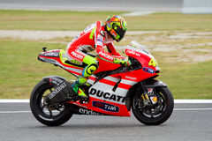 Valentino Rossi racing Stock Image