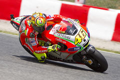 Valentino Rossi racing Royalty Free Stock Photo
