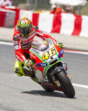 Valentino Rossi racing Royalty Free Stock Photography