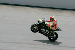 Valentino Rossi of Repsol Honda Team Royalty Free Stock Photography