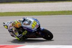Valentino Rossi in Shell Maleise Motogp Royalty-vrije Stock Foto's