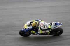 Valentino Rossi sur la piste Photos libres de droits